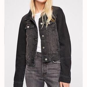 Free people black Rumors Denim Jacket  Small NWT
